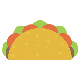 Taco, Food, Mexican, Snack, Lunch, Meal, Dinner, Icon