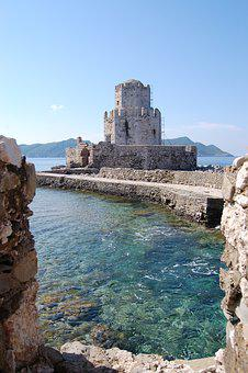 Methoni Castle, Greece, Methoni Beach