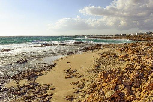Beach, Coast, Waves, Crushing, Sea, Rocks, Nature