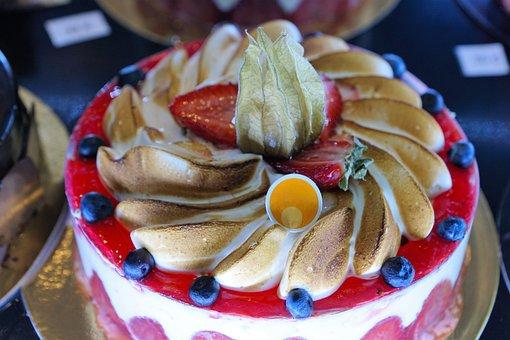 Cake, Eat, Food, Nutrition, Sugared, Break, Lips
