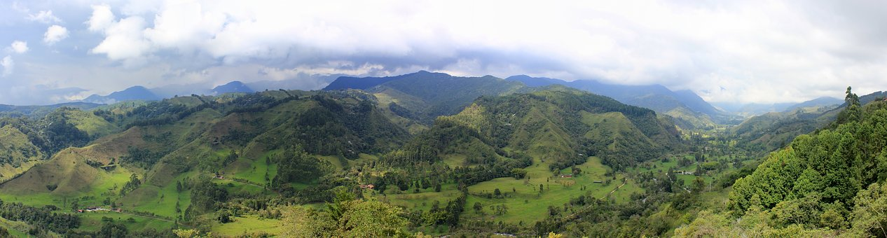Salento, Panorama, Colombia, Nature, Mountains