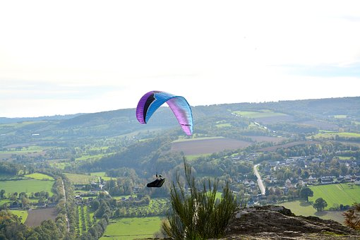 Panoramic Views, Paragliding, Paraglider, Sport