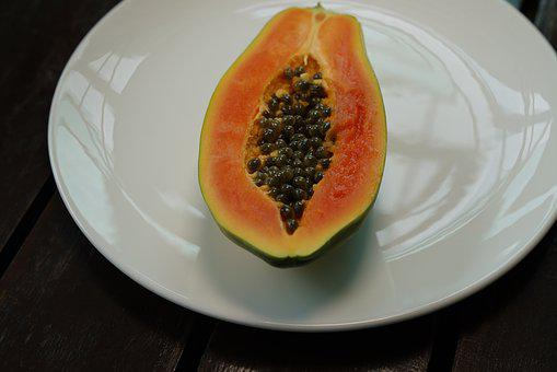 Solo Papaya, Green Papaya, Papaya Seeds, Fruit