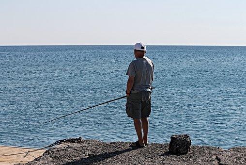 Angler, Fish, Angel, Water, Sea, Fishing Rod, Fischer