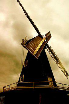 Windmill, Kent, Architecture, Old, Mill, Building, Sky
