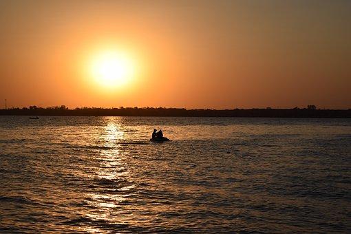 Sunset, Beach, Mar, Sol, Eventide, Ceu, Brazil