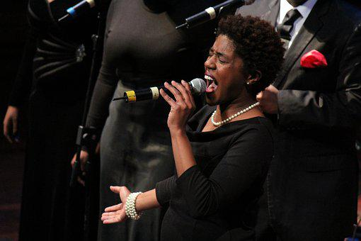 Singer, Music, Soul, Blues, Gospel, Nero, Microphone