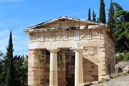 The City Of Athens The Treasury Of The, Delfi