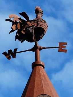 Weathercock, Rusty, Weather, Sky, Arrow, Wind, Vane