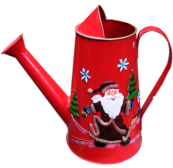 Christmas, Decoration, Watering Can