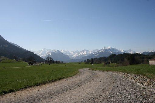 Allgäu, Alpine, Allgäu Alps, Landscape, Panorama