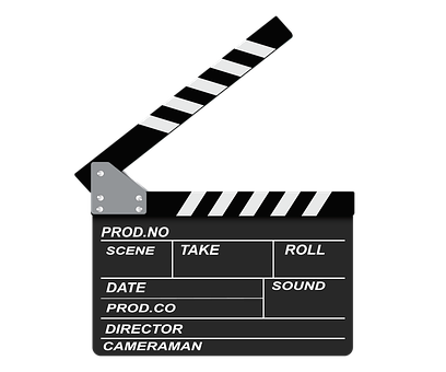 Openclipart, Icon, Black, Filmklappe, The Film