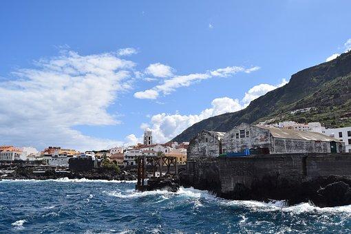 Garachico, Tenerife, Sea, Canary Islands, Old Town