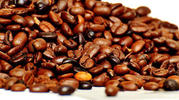 Coffee Beans, Coffee, Beans, Roasted, Aroma, Cafe