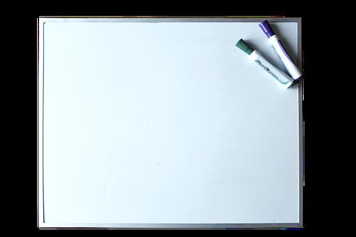 Whiteboard, Dry Erase, Marker, Blank, White Board