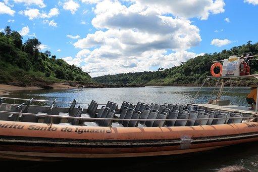 Iguazu, Nature, Falls, Waterfalls, Boat, Excursion