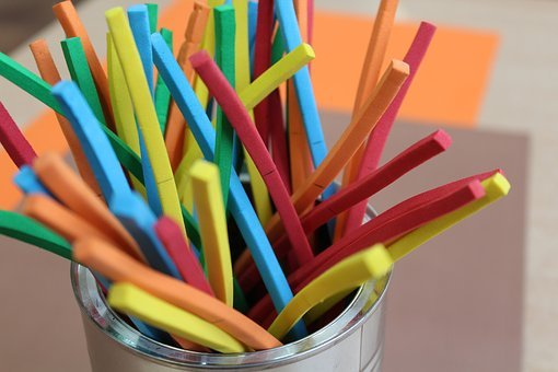 Colorful, Sticks, Children, Fun, Creativity, Science