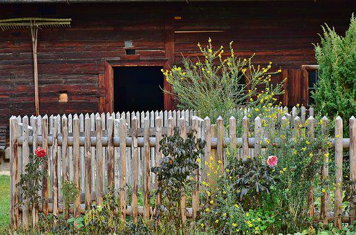 Cottage Garden, Garden, Fence, Garden Fence, Wood