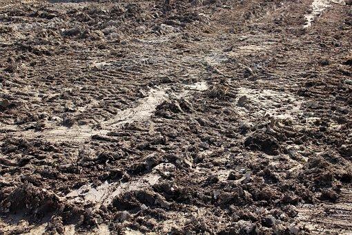 Mud, Land, Ground, Brown, Track, Tractor, Dirt, Farm