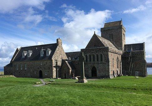 Iona Abbey, Isle Of Iona, Iona, Abbey, Scotland