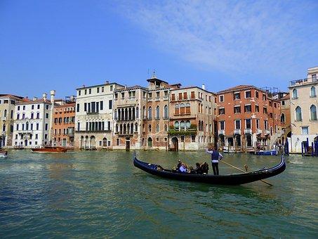 Gondola, Venice, Canal Grande, Italy, Lagoon