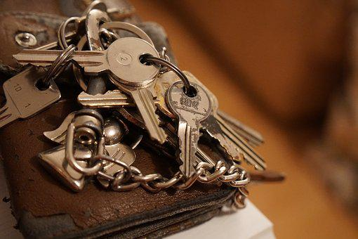 Keychain, Key, Metal, Shiny, Close, Key Ring, Key Chain
