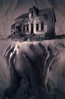 Fantasy, Book Cover, House, Hands, Mysticism