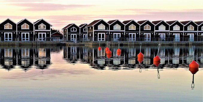 Sunnanå Harbour, Port, Marina, Boathouses, Boathouse