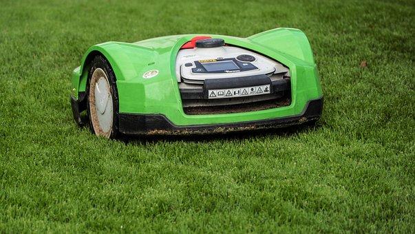 Lawn Mower, Rush, Robot Mower, Green, Mow, Robot