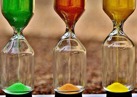 Hourglass, Time, Sand, Transience, Run Out