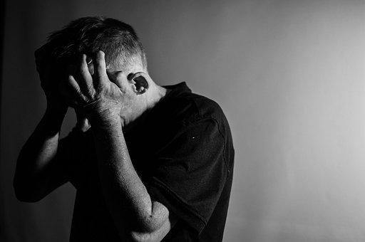 Depression, Man, Anger, Sadness, Jittery