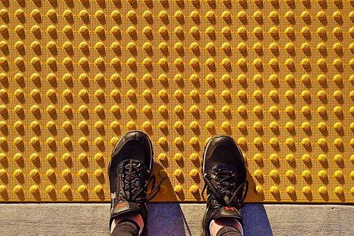 Safety Tread, Sidewalk, Tread Plate, Yellow