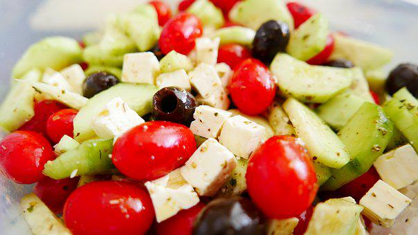 Greece, Greek Salad, Salad, Tomatoes, Feta, Cheese
