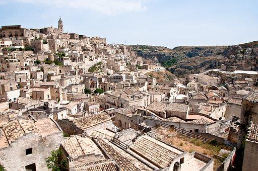 Matera, Basilicata, Sassi, Italy, Unesco, Landscape