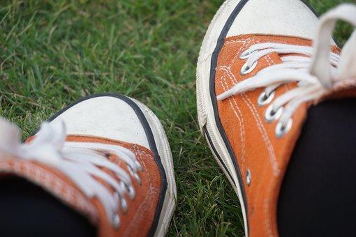 Shoe, Grassland, Board Shoes, Canvas Shoes, Picnic