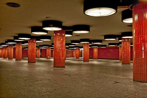 Berlin, U-bahn Station Icc, U, Railway Station