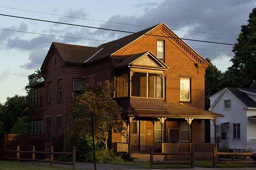 Warm Light, House, New England, Light, Home