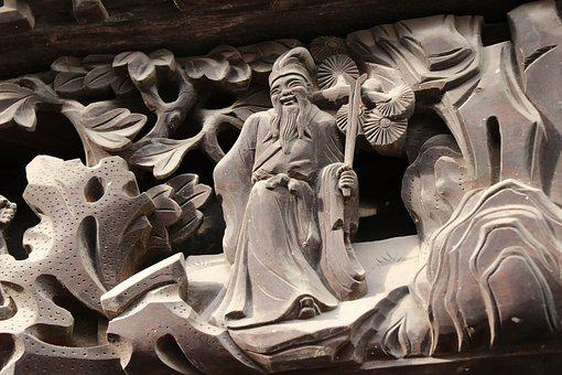 Wood Carving, The Eight Immortals, Life
