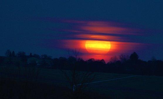 Super Moon, Moonrise, Full Moon, Abendstimmung