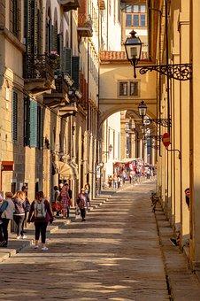 Street, Arcades, Architecture, Ancient, Florence