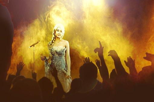 Woman, Occurs, Violin, Show, Diva, Art, Music