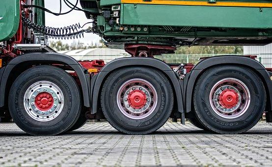 Truck, Mature, Axis, Drive, Heavy Duty, Wheel, Rubber