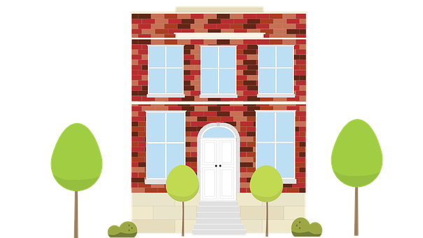 Vector Brick Home, Vector House, Brick Home, Building