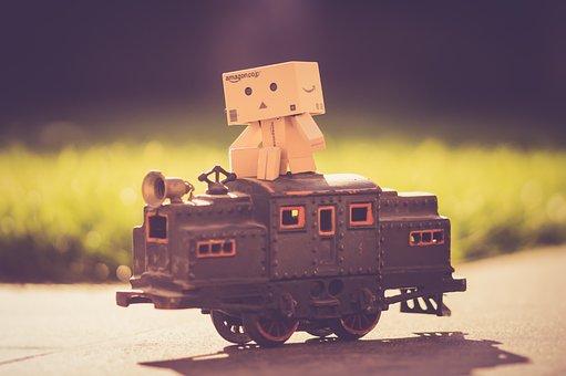 Toys, Train, Children, Old, Danbo, Stick Man, Danboard