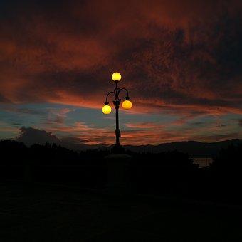 Clouds, Reggio Calabria, Sky, Cloud, Lamppost, Calabria