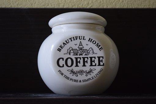 Coffee, Jar, White