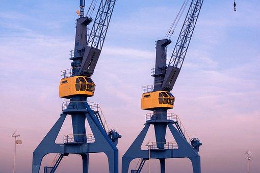 Crane, Portal Crane, Port, Rostock