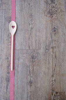 Spoon, Wooden Spoon, Cutlery, Cook, Kitchen, Eat, Dine