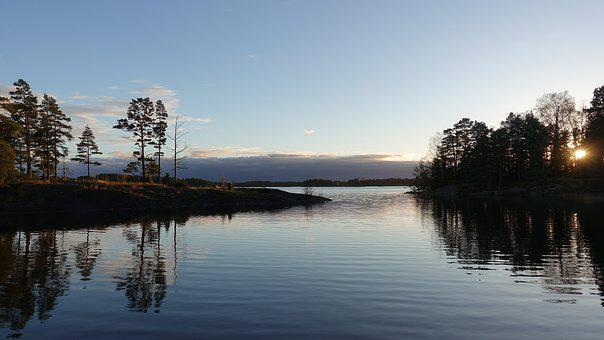 Finland, Sea, Water, Nature, Sunset, Finnish, Landscape