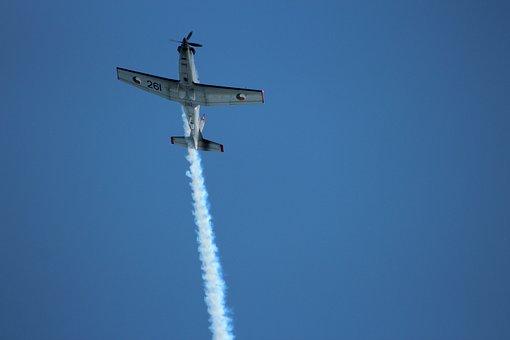 Airplane, Airshow, Smoke, Trail, Air, Plane, Flight
